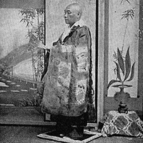 Japanischer buddhistischer Priester ca.1897